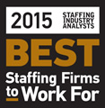 Best Staffing Firm to work for 2015